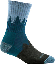 1971 DARN TOUGH Blue Treeline MICRO CREW Cushion Womens Hike/trek Socks M L Wool