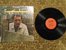 JERRY LEE LEWIS SINGS THE COUNTRY MUSIC HALL OF FAME HITS VOL. 1 LP RECORD