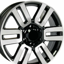 20x7 Wheels Fit Toyota Tacoma Tundra Lexus 4Runner Blk Machd Rim 69561 W1X SET