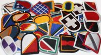 Lot of 50 plus Assorted U.S. Army Unit Insignia Flash & Oval Military Patches