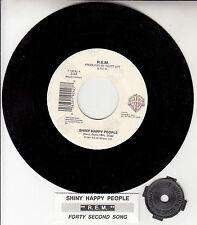 """R.E.M. (REM) Shiny Happy People 7"""" 45 rpm record + juke box title strip RARE!"""