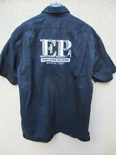 Chemise EDEN PARK Rugline 1987 Double Retors bleu marine manches courtes coton L