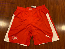 2014-15 Puma Men's Switzerland Player Issue Away Soccer Jersey Shorts Large L