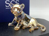 Swarovski Figurine 1016678 Scs Jeune Tigre 2010. avec Emballage & Certificat
