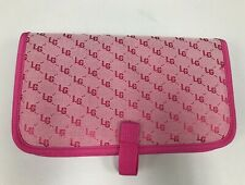 Laura Geller Travel Toiletry Makeup Cosmetic Bag Pink Logo Large