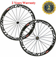 Superteam 50mm Carbon Wheelset 700C Racing Road Bike Clincher Wheelset 3K/UD