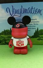 "Disney Park Vinylmation 3"" Set 1 Wreck it Ralph Sdcc Comic Con Red Mickey Hat"