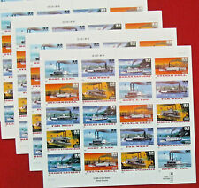 Four Sheets x 20 = 80 of RIVERBOATS / STEAM BOATS 32¢ US PS Stamps Sc# 3091-3095