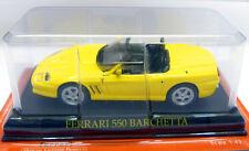FERRARI 550 BARCHETTA, Giallo, altamente dettagliato 1:43 Scala Modellino