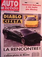 auto hebdo  1991 LAMBORGHINI DIABLO / CIZETA V16T / PROTOS MEXICO /  PHARAONS