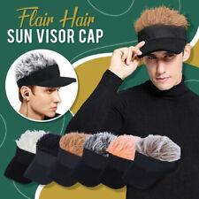 Flair Hair Sun Visor Cap with Fake Hair Wig Baseball Peaked Hat Cap Unisex Warm