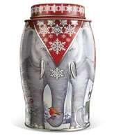 Williamson Christmas Apple & Spice Tea 40 Teabags Elephant Caddy Tin Canister