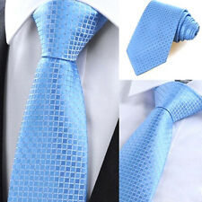 (NT2006) 100% Polyester Blue Solid Men Tie Business Office Party Formal Necktie