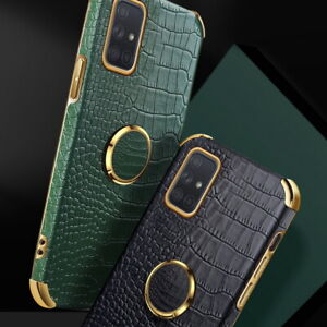 Crocodile Leather Texture Holder Case Cover For Samsung S21 S20 FE A72 A21S A52
