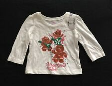Girls Childrens Place Holiday Shirt NWT Size 9-12 Months Long Sleeves