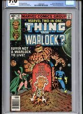 Marvel Two-in-One #63 CGC 9.6 White Pages Warlock