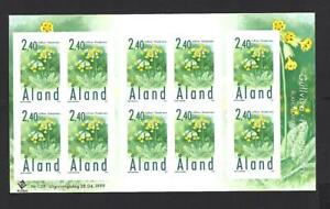 ALAND ISLANDS 1999, 10 x 2m 40 SELF ADHESIVE 'PLANT OF ALAND' STAMPS, SG.152 MNH