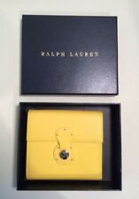 """New Authentic Ralph Lauren Collection """"RICKY"""" yellow leather Wallet $550"""