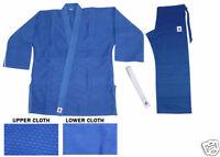 BLUE JUDO JUJITSU SUIT SINGLE WEAVE UNIFORM 450 GI 4