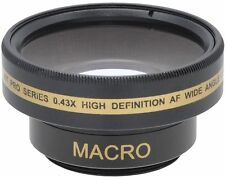 0.43x HD Wide Angle with Macro Lens for Sony HDR-PJ30V HDR-PJ50V HDR-CX305e