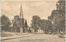 Main Street and Munn Avenue in East Orange NJ Postcard