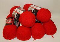 6 Skeins Red Heart Super Saver Yarn Cherry Red NEW