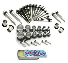 Stretching Kit Tunnels Tapers Gauge Holey Butt'r 16g-00g Plus 1g & 9mm Steel Ear