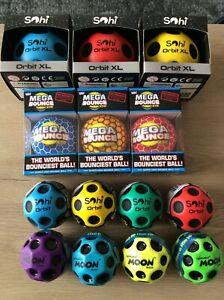 Ultra High Mega Bounce Ball Choose Design - Waboba Sohi Moon Orbit Wicked Balls
