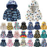 Toddler Kids Hooded Windbreaker Jacket Cartoon Waterproof Coat Boys Girl Outwear
