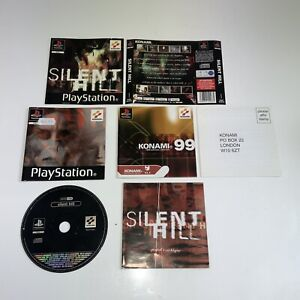 Silent Hill PS1 Original Covers Manual Paperwork With Silent Hill Demo Disc