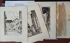 Chr. DE GASTYNE 1957 suite de 10 eaux-fortes et 1 frontispice PARIS Quart. Latin