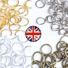 SINGLE BRONZE SILVER & GOLD COLOUR JUMP RINGS 4mm 5mm 6mm 7mm 8mm 10mm JR3