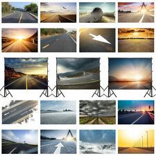 Road Sunrise Sky Mountain Vinyl Fabric Photography Background Photo Backdrop