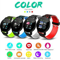 Smart Watch Bluetooth Heart Rate Blood Pressure Monitor Fitness Tracker 119-Plus