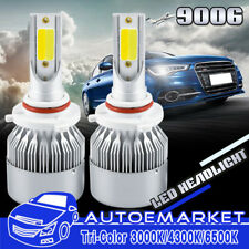 9006 HB4 Tri-Color LED Headlight Kit Conversion Fog Bulbs 3000K 4300K 6500K 400W
