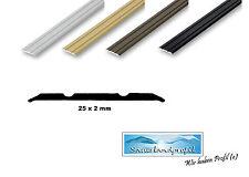 25 mm Übergangsprofil flach Nahtdeckprofil Fugenprofil Schweller Laminat Parkett