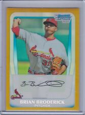 BRIAN BRODERICK 2011 Bowman Chrome Prospects Gold Refractor #04/50 #75  (B7800)
