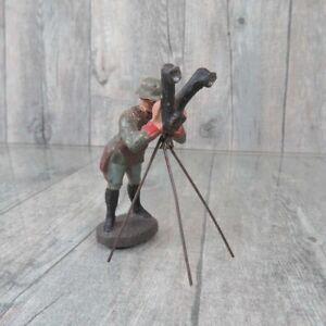 ELASTOLIN - Massefigur - Soldat mit Scherenfernrohr - #C35838