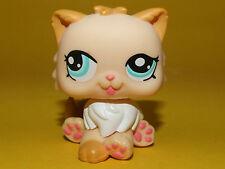 P2) Littlest Pet Shop LPS - Gelb weiße Persian Cat Perser Katze #1320