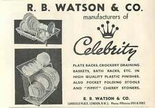 1953 R B Watson & Co Lambolle Place London Primrose Ad