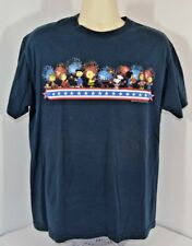 Vtg Peanuts Snoopy Fireworks July 4th Charlie Brown Bbq Picnic T-shirt Mens L