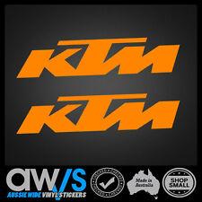 KTM Sticker Decal X2 / FOR Motocross Car Mx Racing Window Banner Trailer