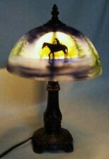 Hand-Painted Lone Cowboy Accent Table Lamp