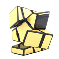 MagiDeal Ghost Magic Cube Speed Cube  Twist Puzzle Toy Kids Gift Gold
