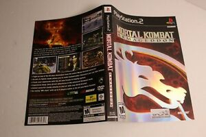 Mortal Kombat Armageddon PS2 replacement cover art insert only! original