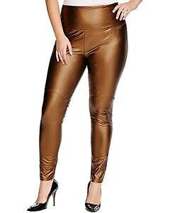 Lyssé Women's Plus Size Hi Waist Vegan Legging, Copper 1X