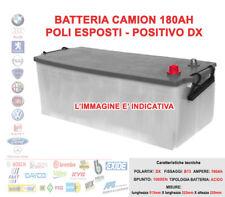 BATTERIA PER CAMION TRUCK 12V 180 AH POSITIVO DX 1000A SPUNTO 513x222x220