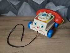 VINTAGE FISHER PRICE CHATTER TELEPHONE A TIRER 1961 MODELE ORIGINAL 747