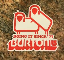 Burton Snowboard Sticker - Snowboarding Skiing Mountain Sports Classic Burton