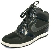 Nike Air Force Sky High Black Hidden Wedge Sneakers Shoes Womens Size 9 US